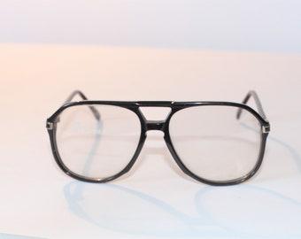 f7c359c5b62 Vintage Mens Burgundy Plastic Aviator Eyeglass Frame