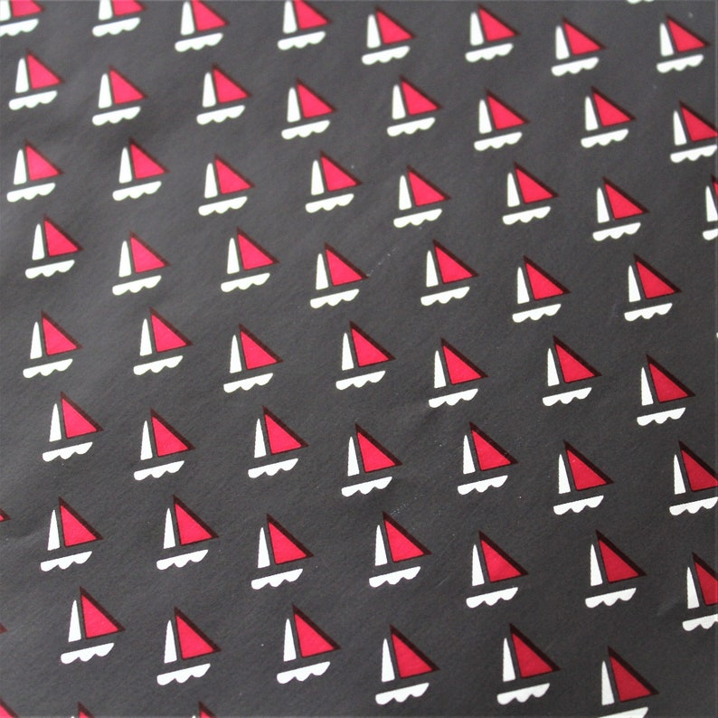 Vintage Metallic Sailboat Ship Gift Wrap Retirement Masculine Wrapping Paper Birthday Wedding Everyday One Sheet Fathers Day