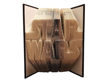 Star Wars Gift - Star Wars Fan - Birthday Gift - Friend - Boss - Coworker - Client Gift - Folded Book - Book Sculpture - Rogue One