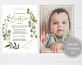 baptism invitations etsy