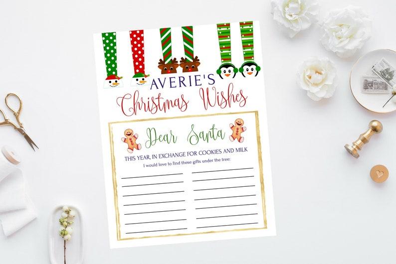 Dear Santa Letter Printable Christmas Wish List For Kids Santa Christmas List Naughty Or Nice Instant Download Editable Letter To Santa