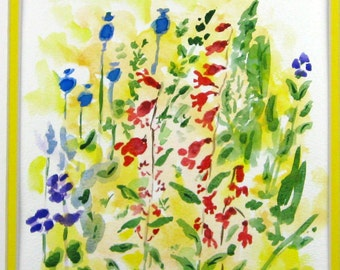 SALE, Abstract Watercolor, Original Watercolor, Floral Watercolor
