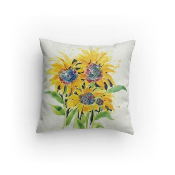 Sunflower Sunflower Pillow Decorative Pillow Sunflower Etsy Best Sunflower Decorative Pillows