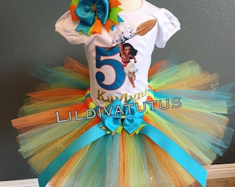 26d4bc4fb Moana tutu set / Moana tutu / Moana Birthday shirt / Moana tutu skirt / Moana  outfit / Moana birthday outfit / Moana birthday tutu set