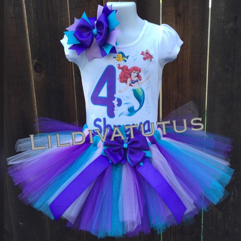 589d12da972e Handmade little mermaid tutu set / Ariel tutu set / Ariel | Etsy