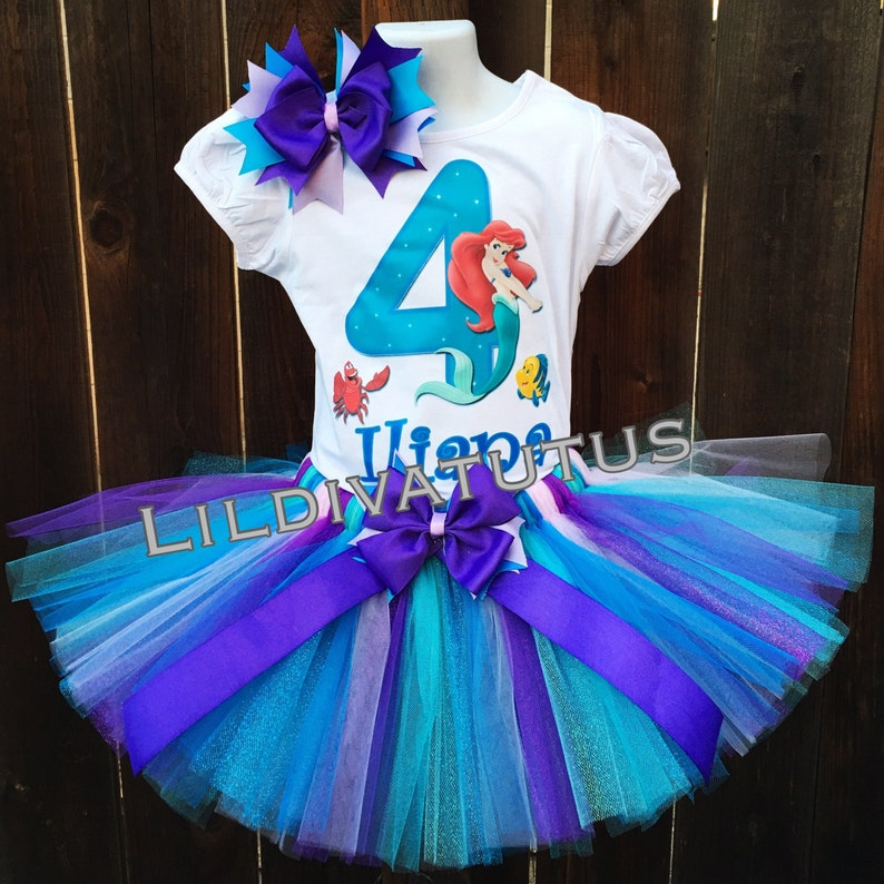 a78d62bead92 Ariel tutu set / Little mermaid tutu set / Ariel birthday | Etsy