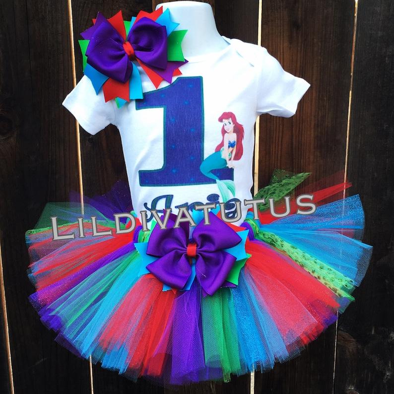 43cf18327b75 The little mermaid tutu set / Ariel tutu set / Ariel birthday | Etsy