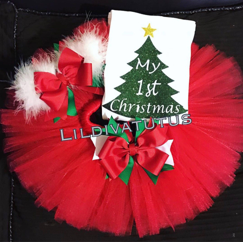 b7de95f23 My first Christmas tutu set / Christmas tutu set | Etsy