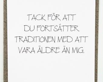 födelsedagshälsning text Swedish birthday | Etsy födelsedagshälsning text