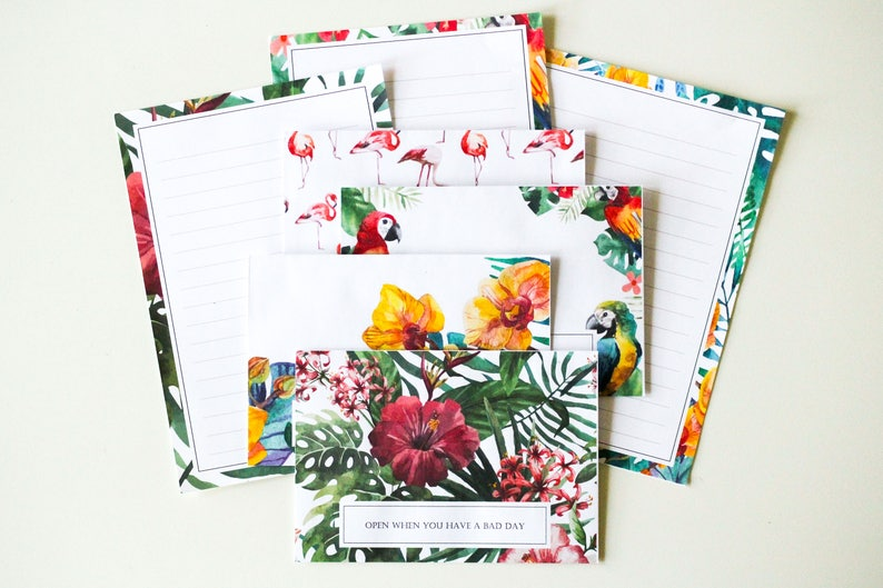 Tropical open when love letters set of 15, letters to open when, letters to  boyfriend, letters to girlfriend, gift for him, gift for her