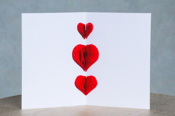 3d Love Card Swedish Valentine Card Pop Up Love Card Love Etsy