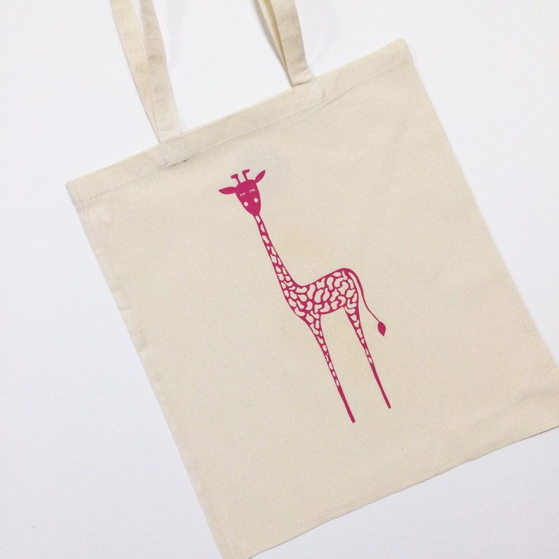 Giraffe Tote Bag With Optional Personalisation image 0