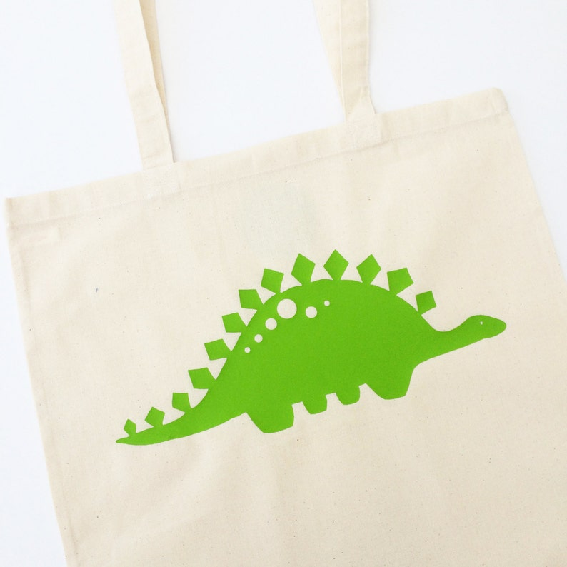 Dinosaur Tote Bag With Optional Personalisation image 0