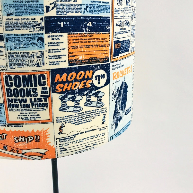 Comic Strip Science and Space Themed Lampshade image 0