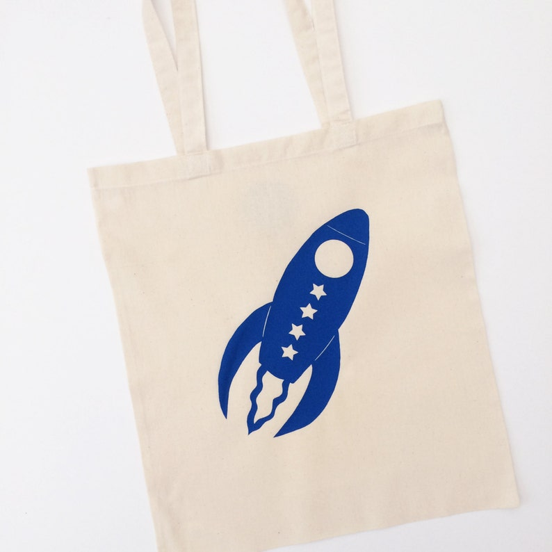 Rocket Tote Bag With Optional Personalisation image 0