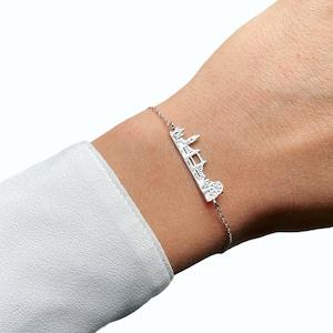 Sterling Silver London Skyline Bracelet For Women Travel Bracelet London Jewelry Silver Bracelet Skyline Bracelet Travel Jewelry