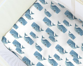 Whale Always Love You Pack N' Play Sheet. Baby Bedding. Playpen Sheet. Whale Play Yard Sheet. Gender Neutral Playpen. Whale Fitted Sheets.