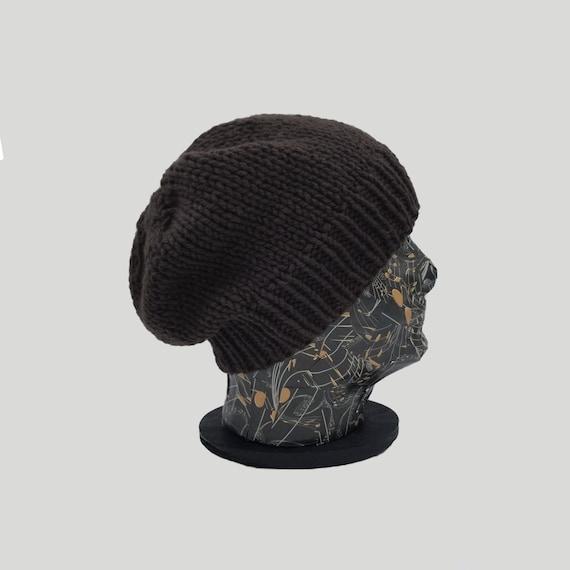 e11d99808d5 Slouchy Beanie Organic Beanie Slouch Hat Brown Beanie Hat