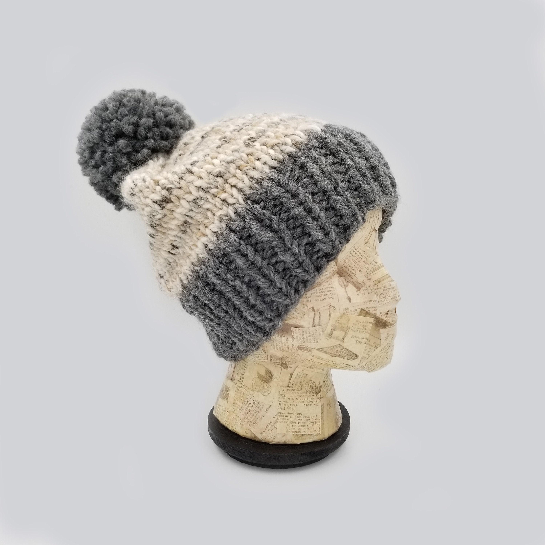 dd7aa95b854 Pom Pom Beanie Color Block Beanie Winter Hat Hat for Women