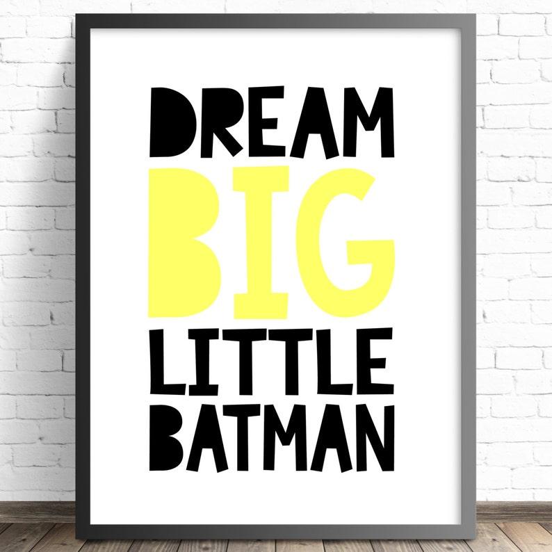 Boys bedroom A4 Print BATMAN Superhero in training personalised