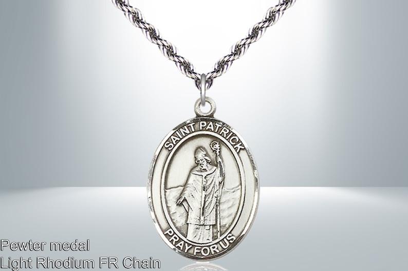 Engraving possible Saint Patrick Pewter Pendant Patron Saint of Snakes Engineers Ireland