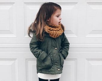 Knit Chunky Toddler Kids Infinity Scarf
