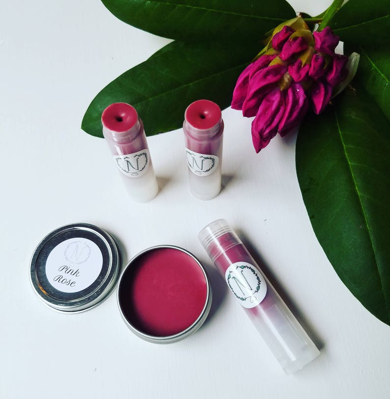 Pink Rose Tinted Lip Balm image 0