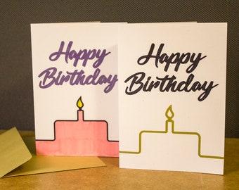 Happy Birthday Cake Card 5x7