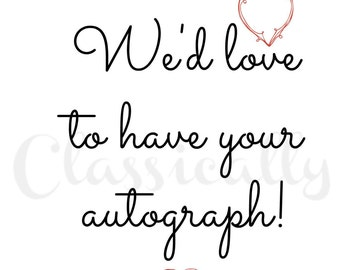 Guest Book Sign, Wedding Print, 5x7 or 8x10 Table Decor