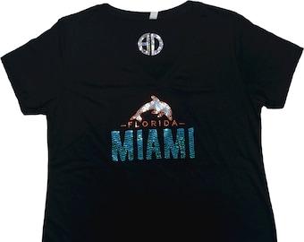 official photos e48a0 1a4e1 Miami dolphin bling | Etsy