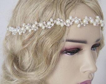 Ivory pearl Wedding headband, Bridal headpiece, Bridal headpiece, Wedding Hairpiece