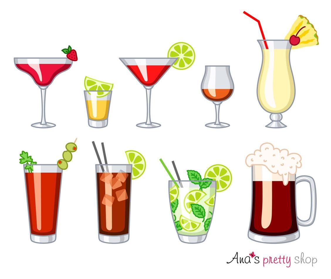 Alkohol Gläser Clipart Getränke Daiquiri Tequila   Etsy