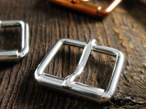 SOLID SILVER Belt Buckle Sterling Silver Buckle with Roller Heavy Duty 925 Custom Mens Women Buckle Replacement Buckle US