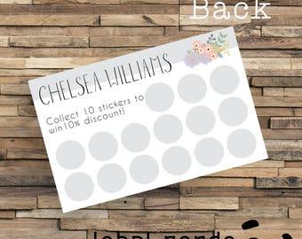 Printed Loyalty Cards, Custom Printed Loyalty Cards, Printed Reward Cards, Business Reward Card, Business Thank You Card, Stamp Card