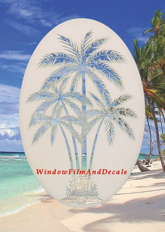 Lighthouse Static Cling Window Decal OVAL 21x33 Nautical Decor for Glass Doors