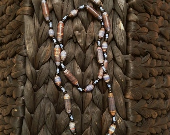 Handmade Beaded Necklace- Blue