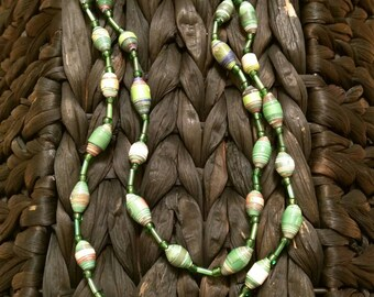 Handmade Beaded Necklace- Green