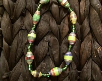Handmade Beaded Bracelet- Green