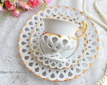 Vintage tea cup vintage porcelain Bisant Slav porcelain tea cup set HC tea cups porcelain vintage tea set vintage teacup saucer