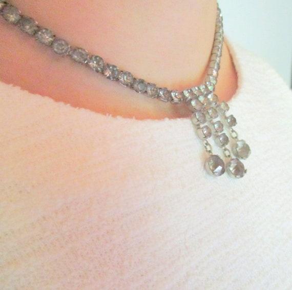 Antique 1920s Rhinestone Necklace