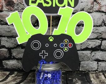 Xbox Centerpiece Controller Gamer Birthday Happy Party Decor Photo Prop