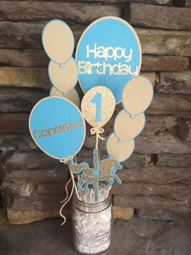 Ballon Carousel Horse Birthday Party Centerpiece Balloon Decorations Happy First