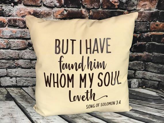 Mais j'ai trouvé celui que mon âme aime oreiller écriture coussin coussin de canapé lit décoratif jeter maison Decor écriture Christian Decor