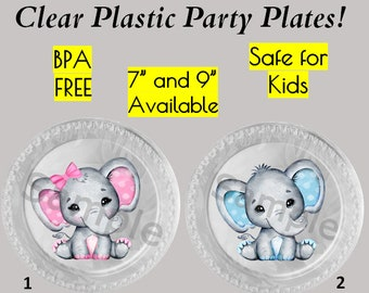 Little Peanut Plates 7 Elephant Dessert Plates Elephant Baby Shower Elephant Plates Elephant First Birthday