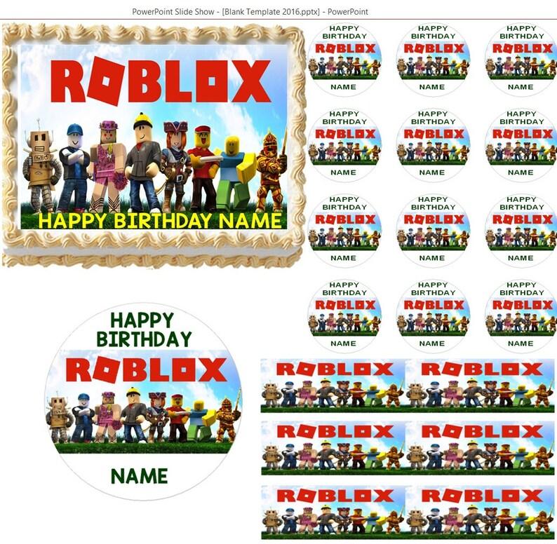 b3682806ca48 Roblox Edible Cake Topper Image Frosting Sheet Roblox Cake