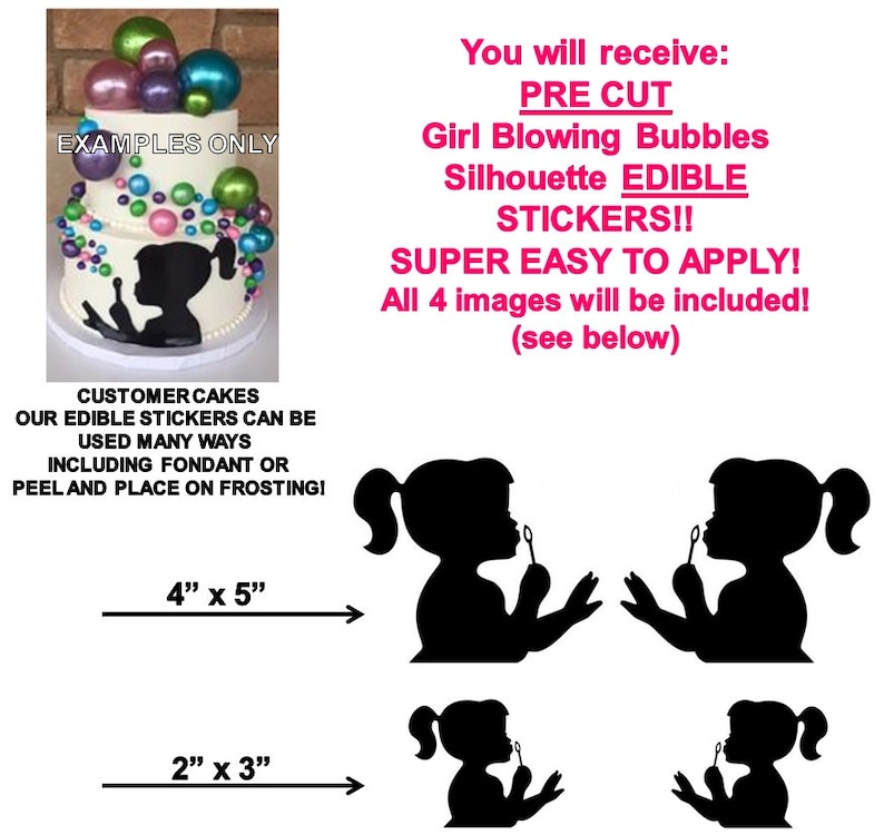 ad063b4aa266d Girl Blowing Bubbles Silhouette PRE CUT Stickers Girl