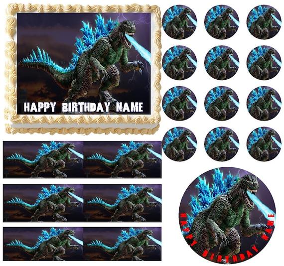 Godzilla Edible Cake Topper Image Godzilla Cupcakes