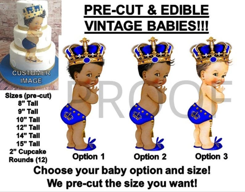 Other Baking Accessories Beautiful Pre-cut Mint Green Pink Gold Crown Princess Baby Girl Edible Cake Topper Cupcake