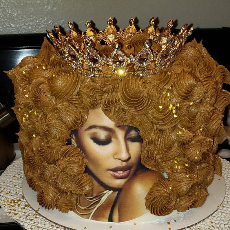 Cake afro black girl Black Owned