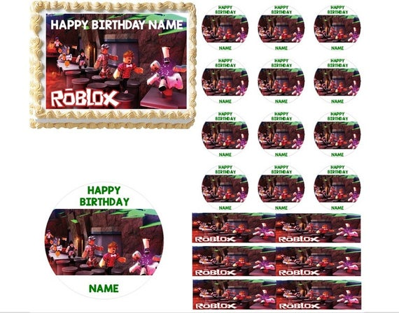 Roblox Edible Cake Topper Image | Roblox Cake | Roblox Cupcakes | Edible  Cake Images | Edible Roblox Image | Edible Robox | Edible Images